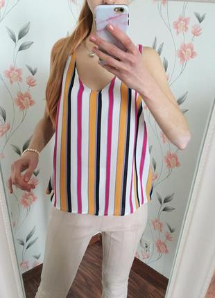 Маечка/ блуза в бельевом стиле, в полоску primark