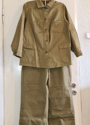 Рабочий защитный костюм. Куртка и полукомбинезон на лямках. 54 р