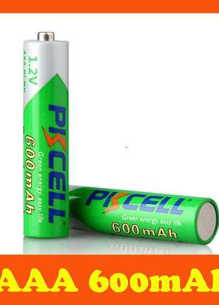 ААА 600mAh аккумуляторы PKCELL Ni-MH, качество, реальная емкость