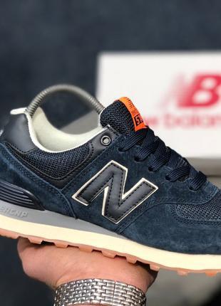 Акция!Женские,подростковые кроссовки NEW BALANCE 574 ENCAP синие