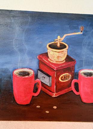 "Картина "" Кофе с макарунами"""