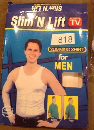 Майка мужская утягивающая slim-n-lift , белая, корректирующее ...