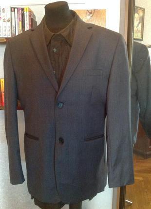 Шикарнейший брендовый шерстяной пиджак lindbergh, р. 56-58