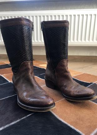 Ботинки демо-сезонные из кожи