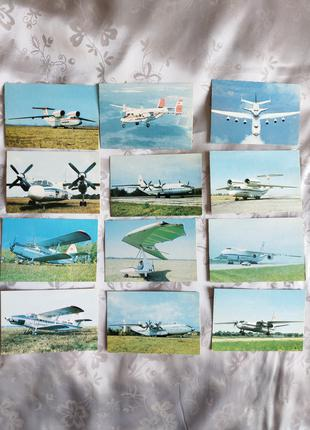 2 Антей календарі-щомісячники на 1991 СССР 12 штук літаки самолё