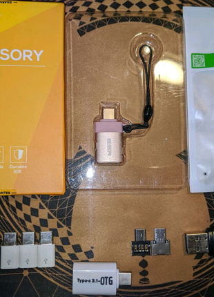 Micro USB, TypeC - USB, OTG переходники