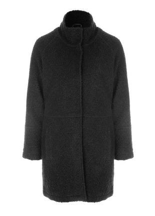 В наличии - фактурное деми-пальто с воротником стойкой *peacoc...