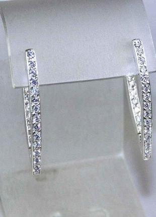 Серьги, сережки серебро 925 пробы
