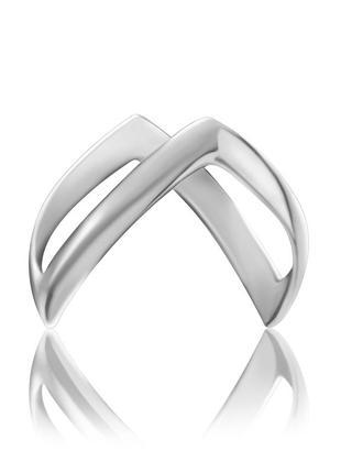 Новое серебряное кольцо бумеранг без камней