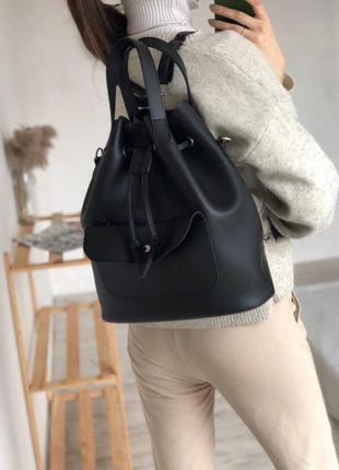 Чёрный рюкзак трансформер,рюкзак сумка