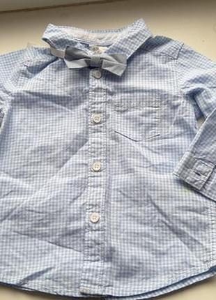 Рубашка и бабочка на мальчика 3-6 мес