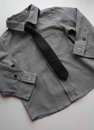 Рубашка и галстук на мальчика 6-12 мес