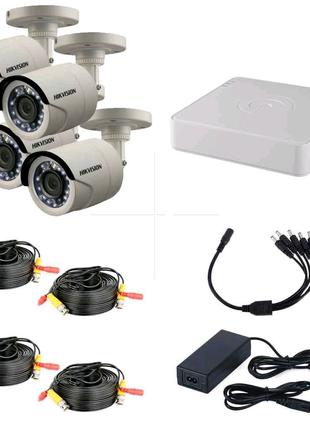 Комплект видеонаблюдения Hikvision профессиональный 2МП на 4камер