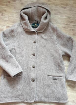 Giesswein, пальто шерстяное, австрия. большой размер.