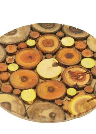 Деревянная подставка под горячее