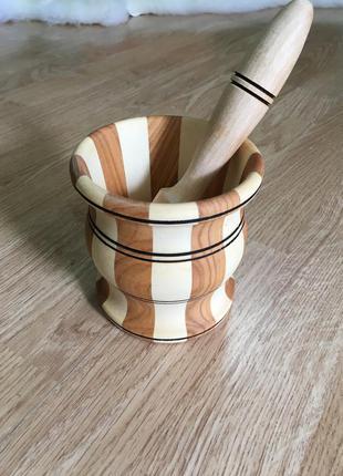 Деревянная ступка