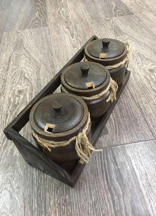 Набор банок для специй на подставке