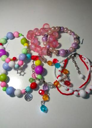Набор детских браслетов/браслет детский/ручная работа /набор р...