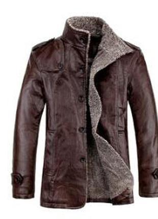 Мужская кожаная куртка fashion leisure осень/ зима   пальто / ...
