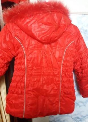 Куртка теплая 140