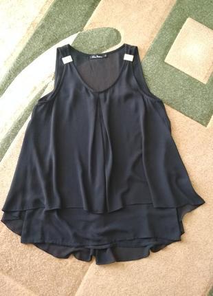 Блуза блузка рубашка без рукавов туника удлененная для беременных
