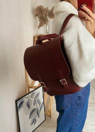 Бордовый рюкзак-трансформер,рюкзак сумка