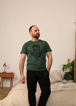 Подарок мужчине. натуральный хлопковый домашний костюм/пижама...