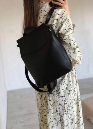 Чёрный большой рюкзак трансформер,сумка трансформер