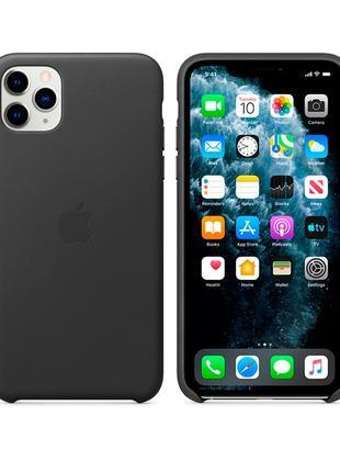 Apple iPhone 11 Pro Max Leather Case - Black (MX0E2)