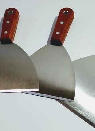 Шпатель скребок для шаурмы с деревянной ручкой