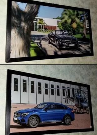 Картины Mercedes S-Class и GLC AMG - подарок мужчине папе другу