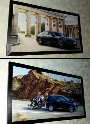 Картины Porsche Panamera и GLE-Class подарок мужчине папе другу