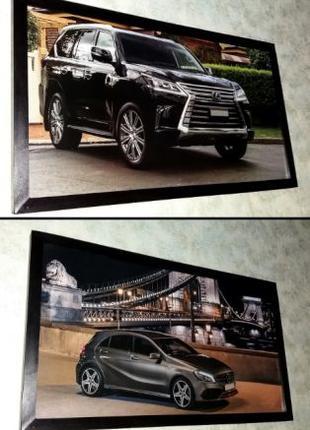Картины Mercedes AMG и Lexus LX подарок мужчине на День Рождения