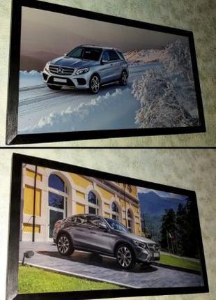 Картины Mercedes GLE и GLC подарок мужчине папе на День Рождения