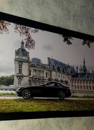 Картина Mercedes-Benz SLR McLaren подарок мужчине папе мужу другу