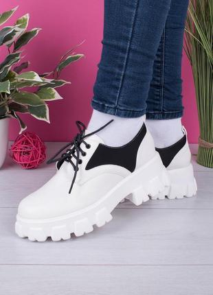 Женские туфли на тракторной подошве
