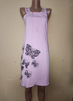 Сорочка ночная женская бабочки