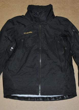 Columbia куртка черная ветровка без капюшона