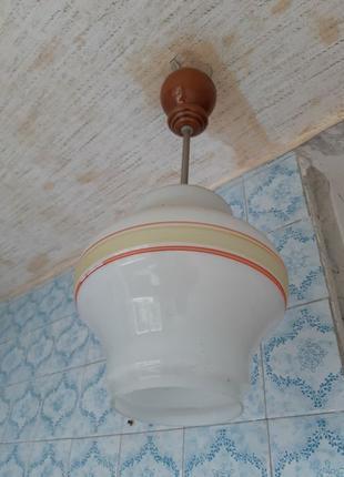 Люстра потолочная ссср, советского периода, на 1 плафон