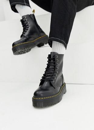 Ботинки женские зимние dr. martens jadon с мехом
