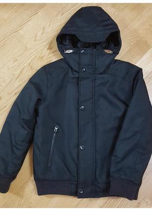 Демисезонная теплая куртка next с капюшоном