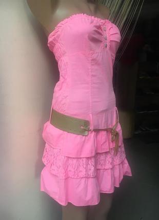 Чудове літнє платтячко, сарафан, без бретельок у ніжно рожевом...