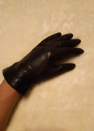 Кожаные  перчатки осень-зима размер 7(s-м) португалия