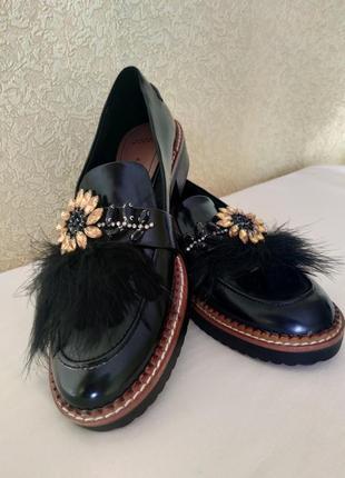 Как новые! zara women шикарные лаковые туфли, топсайдеры, бале...