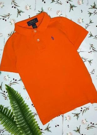 🎁1+1=3 яркая оранжевая футболка polo ralph lauren на мальчика ...