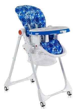 Детский стульчик для кормления JOY, цвет бело-синий
