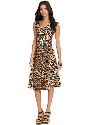 Ralph lauren, оригинал, трикотажное платье клёш, животный прин...