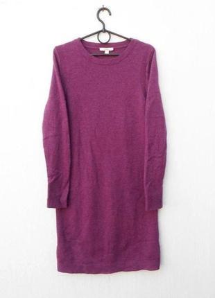 Демисезонное осеннее зимнее вязаное шерстяное платье с длинным...