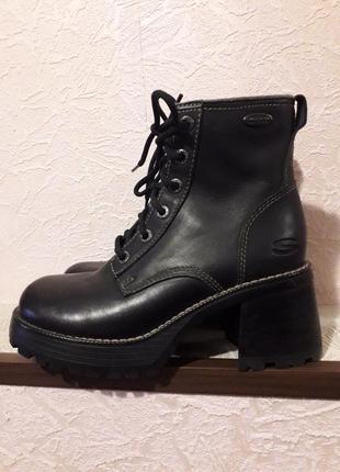 Skechers женские кожаные ботинки демисезон очень весна натурал...