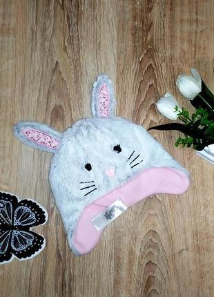 Очень милая, осенняя шапочка кролик, зайчик, с ушками early da...